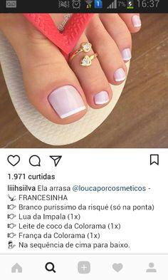 new ideas nails french pedicure nailart French Nails, French Pedicure, Manicure And Pedicure, Pedicures, Pretty Toe Nails, Pretty Toes, Gorgeous Nails, Tumblr Nail Art, Subtle Nails