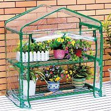 Educational Insights GeoSafari GreenThumb Classroom Greenhouse by Educational Insights. $57.67. From the Manufacturer                Two-tiered Classroom Greenhouse with two sturdy wire shelves. Clear vinyl cover fits snuggly over metal frame. Zippered opening ties open to allow access to plants inside.                                    Product Description                5103 Protect plants inside and outside with this two-tiered Classroom greenhouse. Two sturdy...