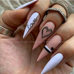 Edgy Nails, Stylish Nails, Trendy Nails, Simple Stiletto Nails, Grunge Nails, Nagellack Design, Glamour Nails, Fall Acrylic Nails, Fire Nails