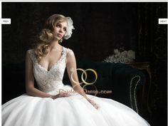 Tulle Wedding Dress close up