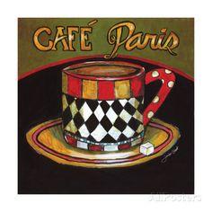 Cafe Paris Impressão giclée