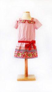 digital croquet dress sewing pattern