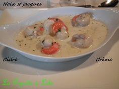 Coquilles st jacques à la crème (cyril Lignac)
