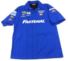 Chase Authentics NASCAR Ford Racing Shirt Mens Small S Embroidered Logos Snap Up #Chase