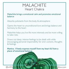 Malachite healing powers! Heart chakra help
