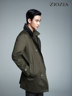 Kim Soo Hyun Gels Back His Hair For ZIOZIA's F/W 2013 Campaign | Couch Kimchi
