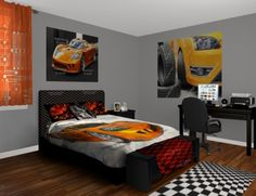 Car Bed Ferrari Car Bedroom Theme Boys Bedroom Boys Room - Car themed bedrooms