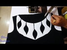 Most beautiful neck design Cutting & Stitching Chudidhar Neck Designs, Salwar Neck Designs, Kurta Neck Design, Neck Designs For Suits, Sleeves Designs For Dresses, Neckline Designs, Fancy Blouse Designs, Blouse Neck Designs, Designer Blouse Patterns