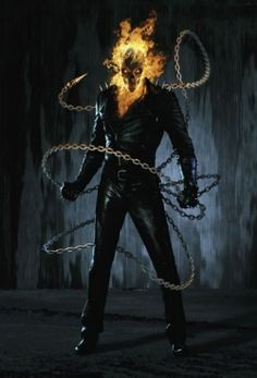Ghost Rider Alias: The Spirit of Vengeance, The Devil's Bounty Hunter, The Wrath of God, The Rider, Johnny Blaze Height: (Has been shown to dwarf . Ghost Rider burns rubber in THE FUNK! Ghost Rider 2, Ghost Rider Johnny Blaze, Ghost Rider Marvel, Ghost Rider Tattoo, Ghost Ghost, Comic Book Characters, Comic Book Heroes, Marvel Characters, Comic Character