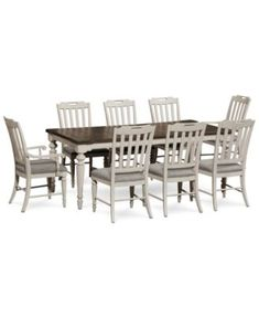 Kelly Ripa Home Hayley 9Pcdining Set Dining Table 6 Side Adorable 2 Piece Dining Room Set 2018