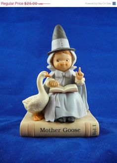 """Sale 25% Off Vintage """"Mother Goose"""" from Once Upon A fairy Tale Series by Enesco - SOLD"""