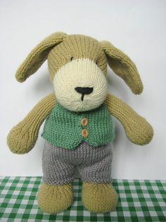 Puppy toy knitting pattern por fluffandfuzz en Etsy