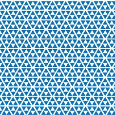 80's triangles pattern/fabric blue