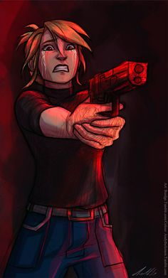 Think! Think about how much he deserves this. He killed them all. All you have to do is pull the trigger. <<< Oooh, I might use this for Two-Faced. (Justin yells at Diane?)