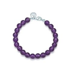 Paloma Picasso® bead bracelet in amethyst with sterling silver clasp.