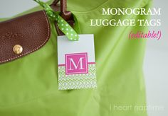 Luggage Tag Printables on I Heart Nap Time