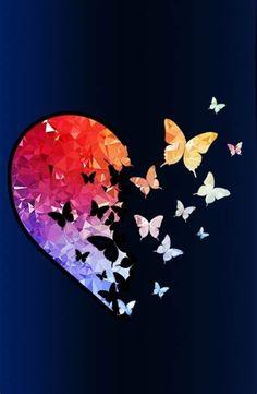 Heart Wallpaper, Butterfly Wallpaper, Cute Wallpaper Backgrounds, Butterfly Art, Love Wallpaper, Cellphone Wallpaper, Pretty Wallpapers, Galaxy Wallpaper, Iphone Wallpaper