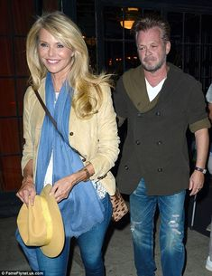New couple? Christie Brinkley and John Mellencamp sent the romance rumour mill grinding after they were seen on a dinner date at The Bowery Hotel in NYC on Monday night