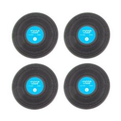 Vinyl Record Style Silicone Drink Coasters - Set of 4: Amazon.com: Grocery & Gourmet Food