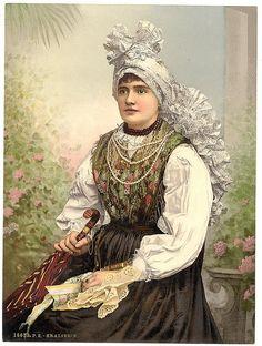 Soyouthinkyoucansee on tumblr   Krainerin    Girl in traditional local dress from Carniola (Krain), SLOVENIJA