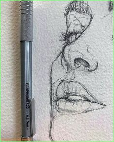 Love the rawness of ghis illustration sketches, drawing sketches, portrait sketches, sketch art Pencil Art Drawings, Cool Drawings, Drawing Sketches, Drawing Tips, Drawing Faces, Realistic Drawings, Face Sketch, Nose Drawing, Pencil Drawing Tutorials
