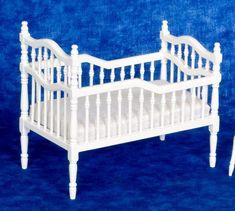 White Victorian crib
