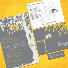 you are invited...in gray and yellow.