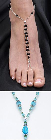 Beaded Foot Jewelry ...wonderful idea for #beach wedding