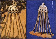 Latgalian men's brooch. Reconstruction - 11th century Latvia, Ģūģeru #Latvia #Baltic#