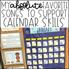 My Absolute Favorite Songs to Support Calendar Skills - You Aut-A Know