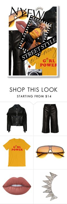 """""""NYFW Street Style: Day Two"""" by cultofsharon ❤ liked on Polyvore featuring Chanel, J Brand, Lime Crime and Delfina Delettrez"""