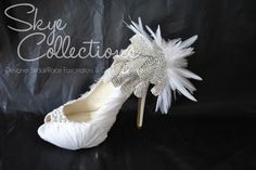 Bridal Bubbly: Feather Shoes {Skye Collections}