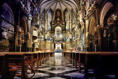 Montserrat, Catalunya. Interior basilica
