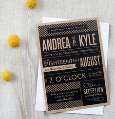 wording is good. Modern Vintage Playbill Wedding Invitation by Cheerupcherup, $3.75