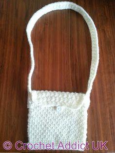 Free Crochet Pattern: Perfectly Pretty Purse From http://www.favecrafts.com/Crochet-Bags/Perfectly-Pretty-Crochet-Purse-Pattern