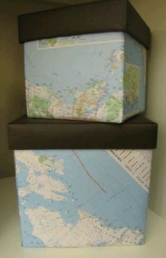 Cover boxes with maps!