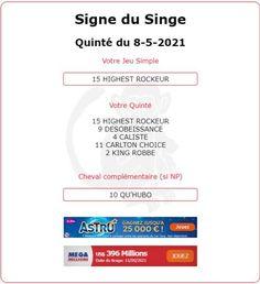 Tiercé pour l'année du Singe et pour le signe des Gémeaux. Arrivée du Quinté 4 - 15 - 10 - 14 - 5 ce Samedi 08/05/2021 dans le GRAND PRIX DE PARILLY à LYON-PARILLY.