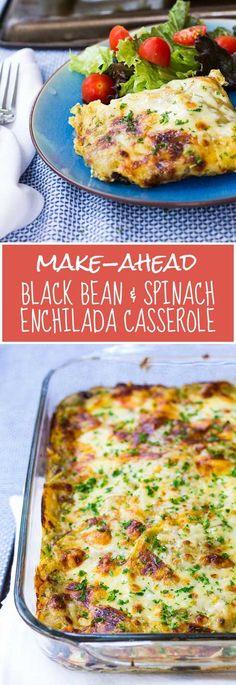 Make-Ahead Black Bean & Enchilada Casserole - An easy, gluten-free, healthy, kid-friendly make-ahead meal!
