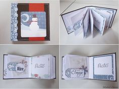 """Tuto de mini """"hiver"""" : http://isbahashome.blogspot.fr/2013/11/tutorial-for-mini-album-with-only-one.html"""