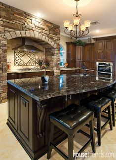 Kitchen Island Topped With Black Titanium Granite. Still Need The Main  Kitchen Sink Looking Out A Window Though.