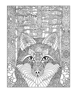 Wolve coloring page