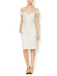 Red Label Tudor Laminated Lace Dress by Vivienne Westwood at Gilt