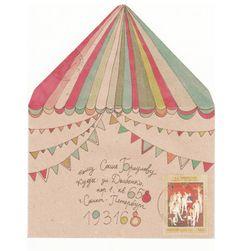Circus Decorated Envelope mail art