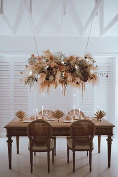 In case you haven t been convinced yet this miami wedding inspiration will make you want to decorate everything using pampas grass plan your party at the 360 at skyline with these fabulous cocktail tables that your guests will enjoy all night! Wedding Table Centerpieces, Flower Centerpieces, Flower Arrangements, Wedding Decorations, Table Decorations, Centerpiece Ideas, Hanging Centerpiece, Flowers Decoration, Floral Wedding
