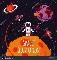 stock-vector-space-concept-with-astronaut-on-moon-and-rocket-satellites-on-orbit-flat-vector-illustration-224415109.jpg (1500×1600)