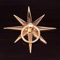 Starburst Pull Hardware in Brass