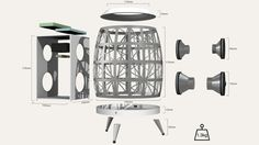 Nidus Sound: a Speaker Concept by Bruno Ishii de Souza