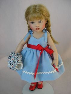"""OUTFIT ONLY, Kish RILEY sundress bolero red shoes 7 and 1/2"""", doll clothing only sold 1/2018 by TomiJane"""