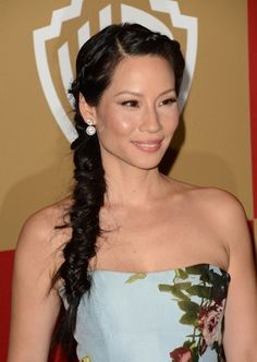 Lucy Liu fishtail braid