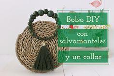 Collar Diy, Wicker Baskets, Purses, Bags, Style, Diy Collares, Fashion Handbags, Wooden Beads, Bead Necklaces